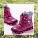 Pink Star Winter Boots