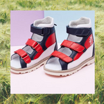 Chilli Three Tones High Cut Sandals