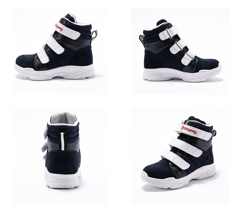 Navy & White High Cut Sneakers
