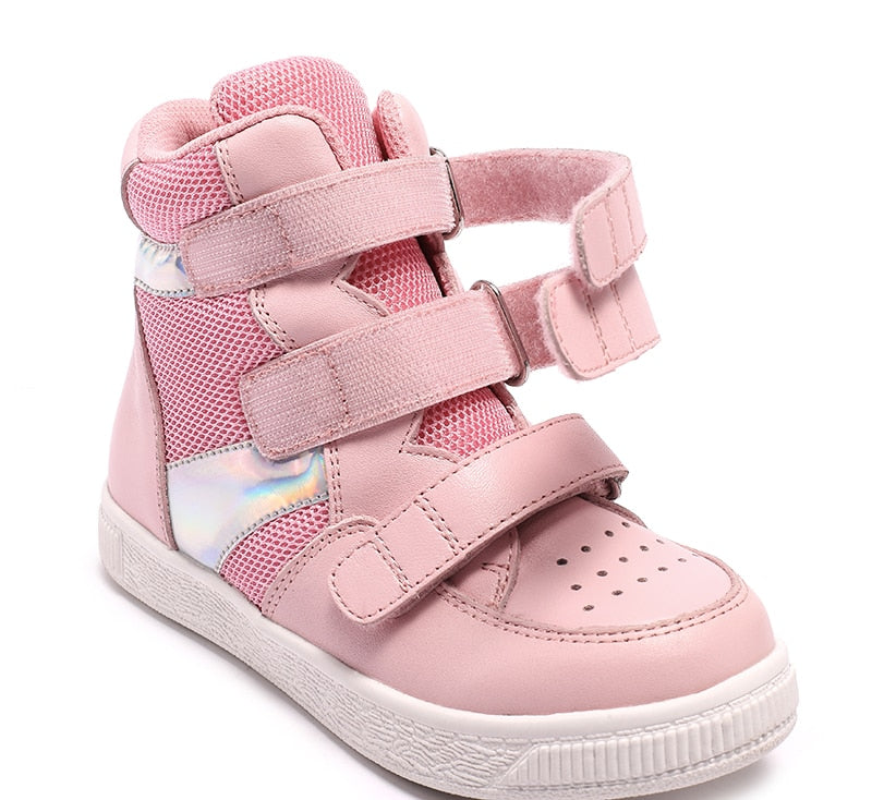 Pink Rainbow High Cut Sneakers