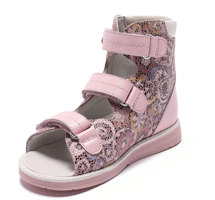 Pink Flower High Cut Sandals