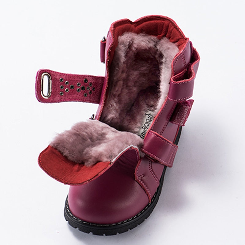 Red Classic Winter Boots