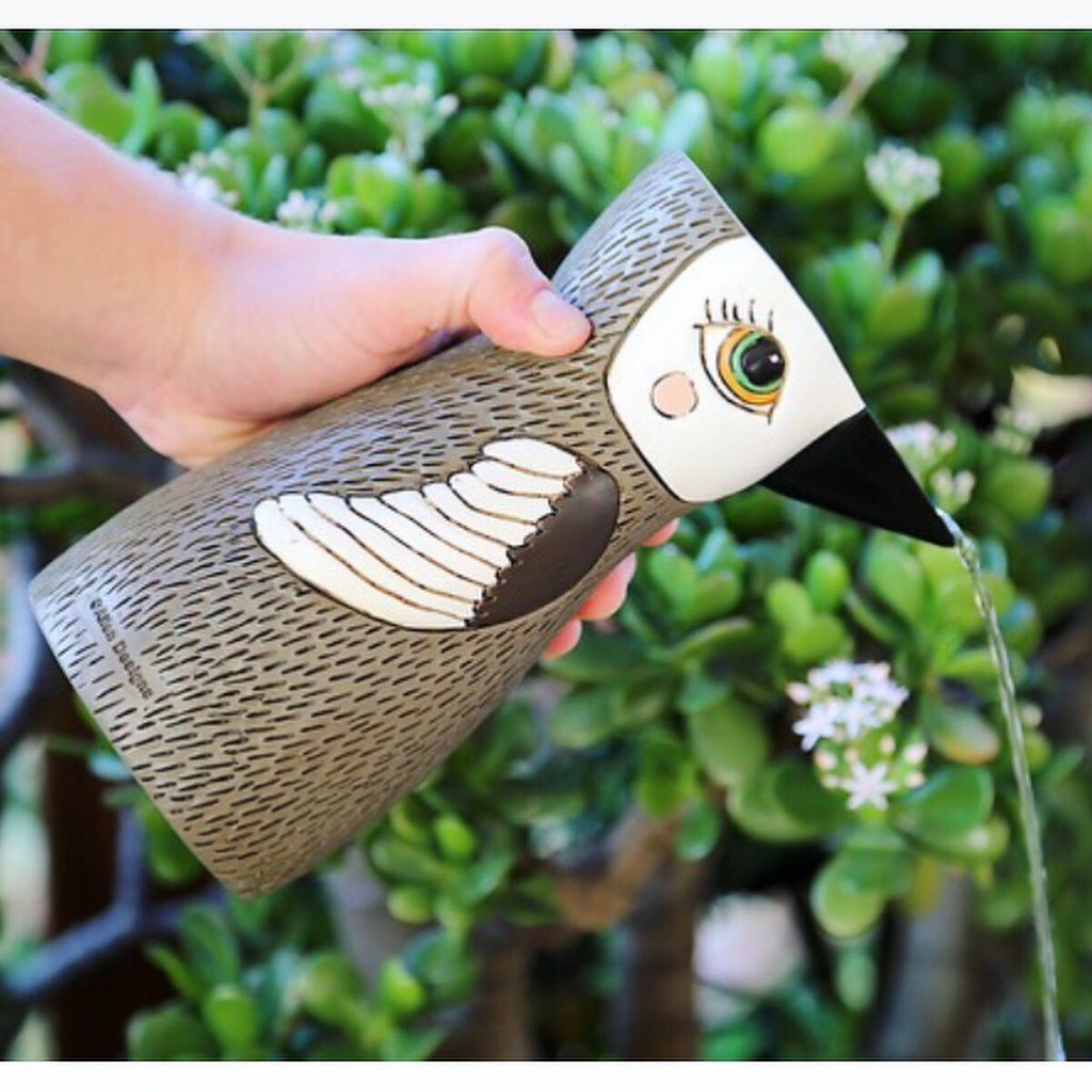 BIRD WATERING CAN - BROWN