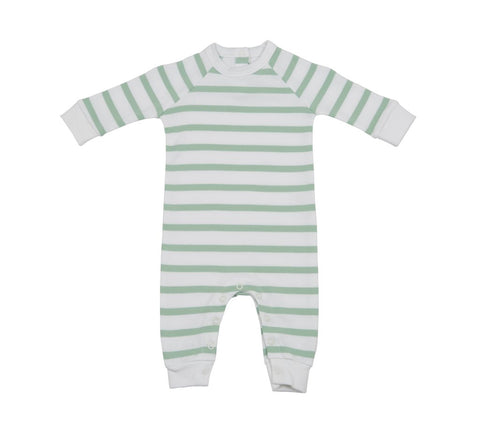 BOB & BLOSSOM All-In-One Seafoam & White Breton Stripe