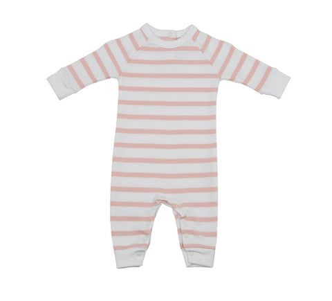 BOB & BLOSSOM All-In-One Dusty Pink & White Breton Stripe