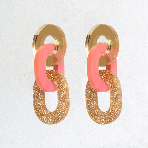 NATALIE LEA OWEN Hallie Earrings - Gold Glitter