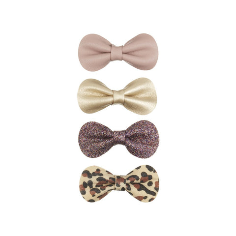 MIMI & LULA Leopard Gracies Mini Bow Clips
