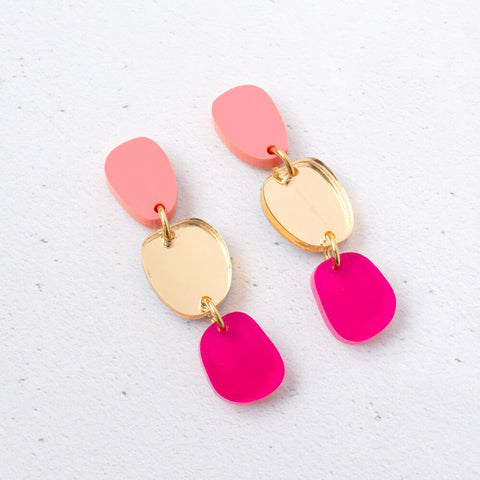 NATALIE LEA OWEN Lily Dangle Earrings - Pink Fluo