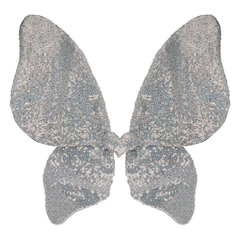 MIMI & LULA Sparkle Sequin Wings - Silver