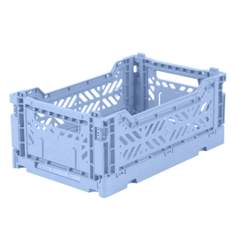 Foldable Stackable Crates - Baby Blue
