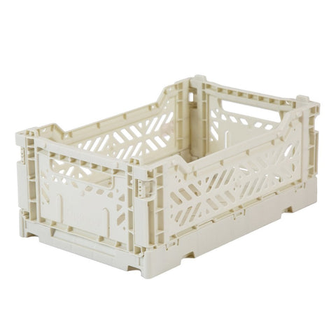 Foldable Stackable Crates - Light Grey