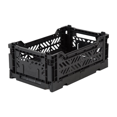 Foldable Stackable Crates - Black