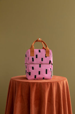 STICKY LEMON Small Backpack - Sprinkles Special Edition - Bubbly Pink/Carrot Orange/Syrup Brown
