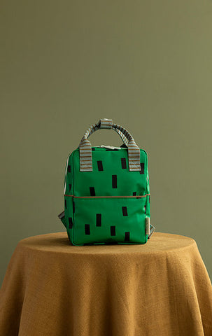 STICKY LEMON Small Backpack - Sprinkles Special Edition - Apple Green/Steel Blue/Brassy Green