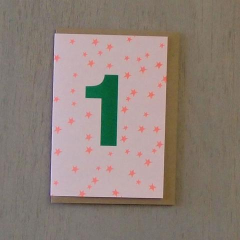 Riso Number Cards - Green/Orange 1