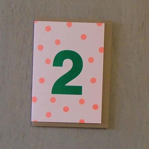 Riso Number Cards - Green/Orange 2