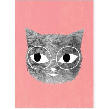 Cat In Glasses Print