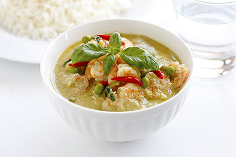 thai curry garnaal recept