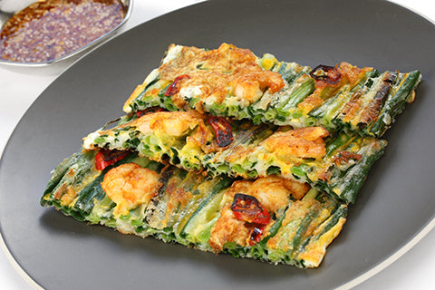 korean prawn pancake