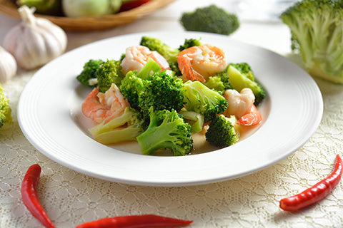 shrimp broccoli recept