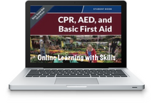 Adult and Child CPR/AED Online Learning with Remote Skills Verification
