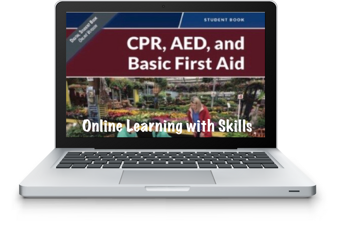 Adult Only CPR/AED/First Aid Online Learning with Remote Skills Verification