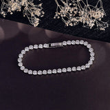 Zirconia Charm Bracelet Bangle - Weddingkings.com