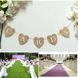CARDS Heart Shape Hessian Bunting Banner