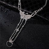 Crystal Barefoot Anklet Bracelet Jewelry Accessory - Weddingkings.com