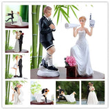 Funny Bride Groom Figurine Cake Toppers - Weddingkings.com