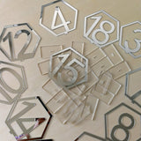 1 - 20 Acrylic Wedding Table Numbers