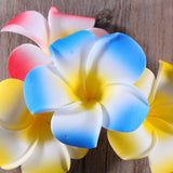 Mixed Hawaiian Plumeria Flower Hair Clip