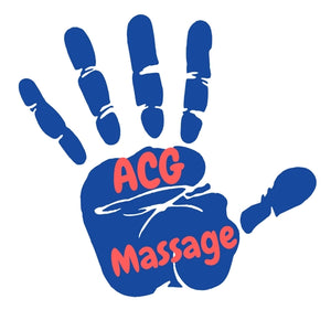 This is an image of acg massage logo supplier of kinesiology tape and acupressure mats UK