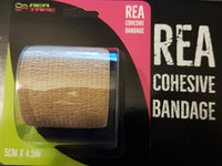 This is an image of REA TAPE Cohesive Bandage. Various Patterns and Colours Beige For Joint Support UK Seller ACG Massage