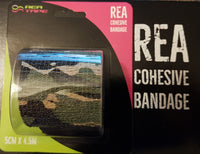 This is an image of REA TAPE Cohesive Bandage. Various Patterns and Colours Camouflage Green For Joint Support UK Seller ACG Massage