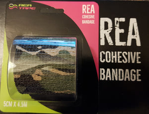 REA TAPE Cohesive Bandage. Various Patterns and Colours  5 cm x 4.5 meters