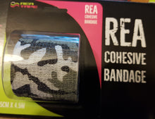 This is an image of REA TAPE Cohesive Bandage. Various Patterns and Colours Camouflage Grey For Joint Support UK Seller ACG Massage