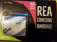This is an image of REA TAPE Cohesive Bandage. Various Patterns and Colours white For Joint Support UK Seller ACG Massage