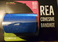 This is an image of REA TAPE Cohesive Bandage Camouflage Tape Support Injured Limbs. Blue UK Seller ACG Massage