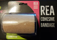 This is an image of REA TAPE Cohesive Bandage Camouflage Tape Support Injured Limbs. Beige UK Seller ACG Massage