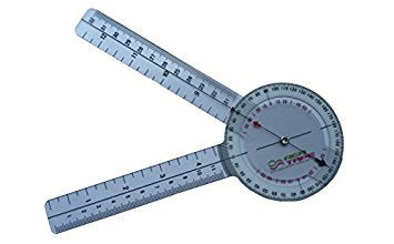 The REA Tape Goniometer  Material: Toughened Clear Plastic  Graduation: 0-340mm  Protrector: 0-360 DGR