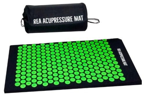 REA Acupressure Mat only in Green and complete with its own storage bag.