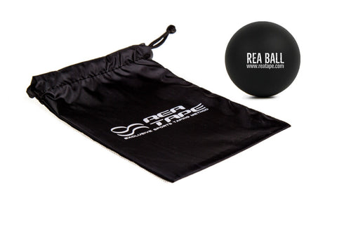 This is an image of our REA Ball Single - To Massage Out Muscle Knots & Improve Performance. With carry bag. UK Stockist