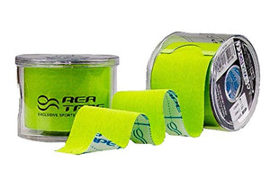 This is an image of REA TAPE Premium Lime 5cm x 5mtr Kinesiology Tape - Extra Strong! ACG massage UK Stockist.