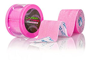 This is an image of REA TAPE Premium Pink 5cm x 5mtr Kinesiology Tape Extra Strong! ACG Massage UK Stockist.