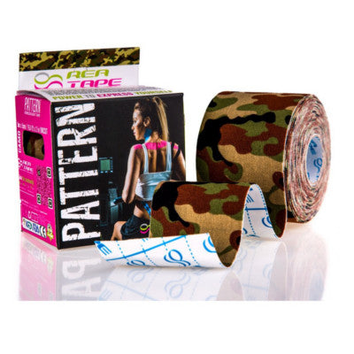 This is an image of a REA TAPE Kinesiology Tape Camouflage 5cm x 5mtr K Tape UK Supplier