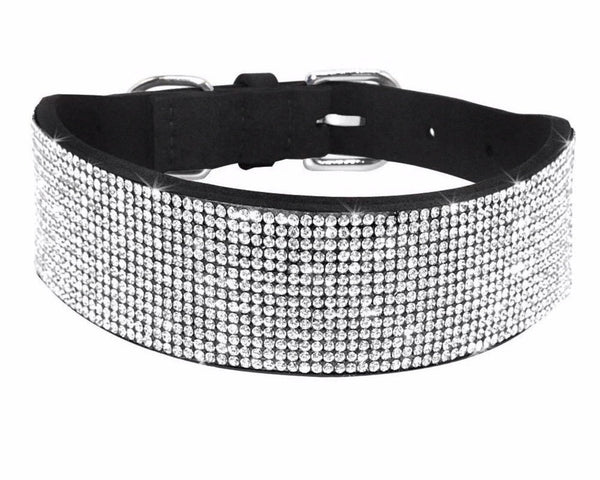 collier diamants -chien mondain