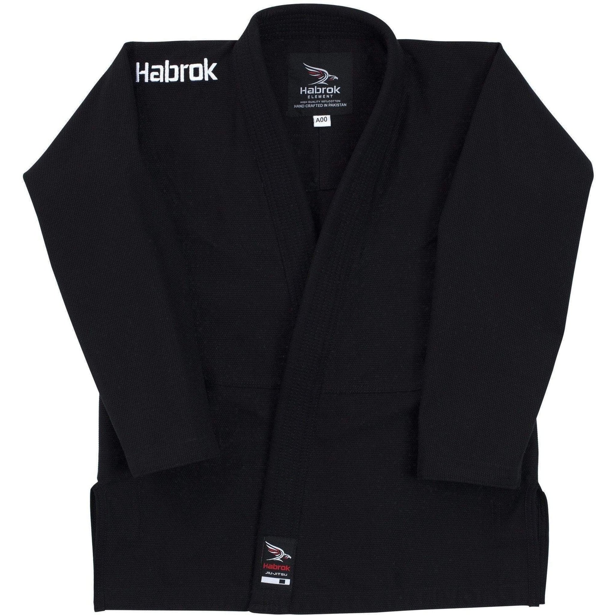 Habrok Jiu Jitsu Gi K000 / BLACK Element | Youth | Ultra Light Weight Gi 680334796543