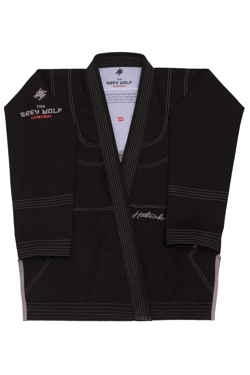Habrok Jiu Jitsu Gi A0 / BLACK The Grey Wolf | Samurai | Pugnator Series 681565431340