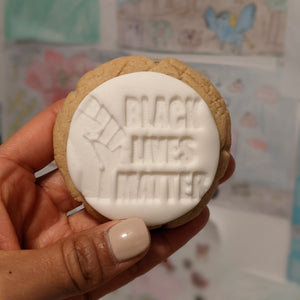 Black Lives Matters Medallion Cookie